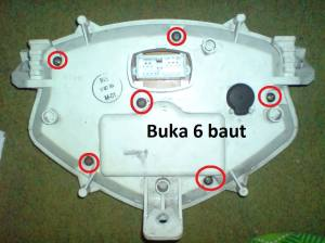cara ganti LED speedometer 6